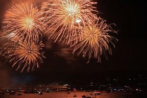 SF, 4th, July, Fireworks