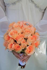Bridal Bouquet, orange rose bouquet